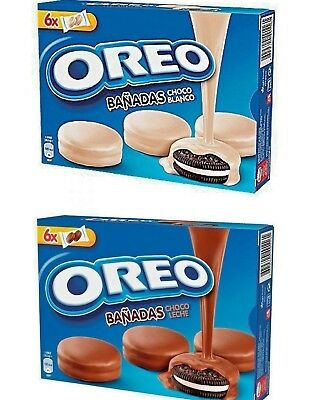 Oreo White or Black Cookies Covered Milka Chocolate Variations EXP. 11-2019