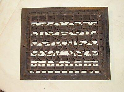 Vintage Victorian Cast Iron Louvered Floor Grate Vent Register GOOD CONDITION