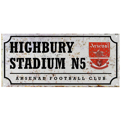 Official Football Clubs Retro Street Sign