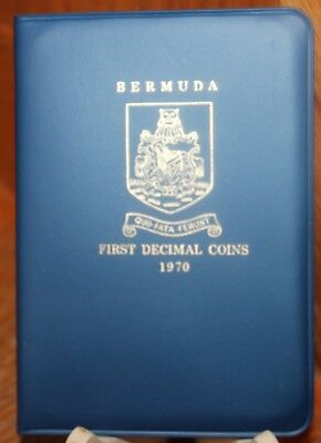 Bermuda First Decimal Set of Uncirculated. 5 Coins + Original Royal Mint Holder