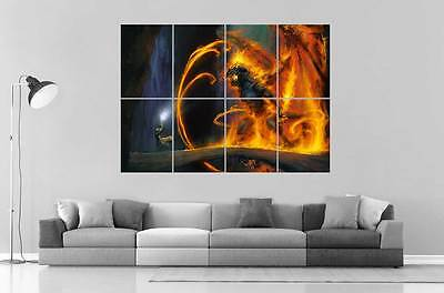 Balrog Gandalf Battle 2 Lord of the Rings Lords of Rings Poster Format A0