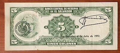 El Salvador Coin Set  5 + 10 + 25 Cents Used Before Colon Was Substituted