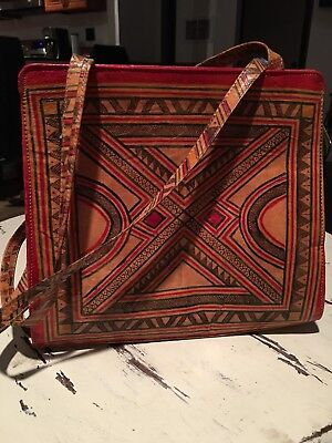 Indian ,African,Mexican Inspired Tooled Leather Bag,bohemian,Frida,hippie,