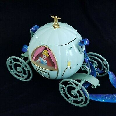 Disney DLR Diamond 60th Cinderella Carriage Popcorn Bucket Teal Blue / Green NEW