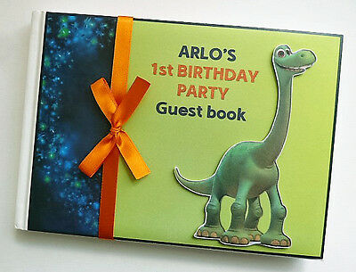 Arlo The Good Dinosaur Personalised 1St Birthday Guest Book - Any Design