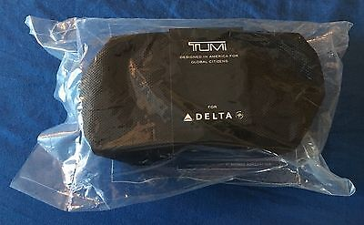 NEW! Soft Sided Black Delta Air Lines Tumi Amenity Kit Sealed Kiehl's Crest