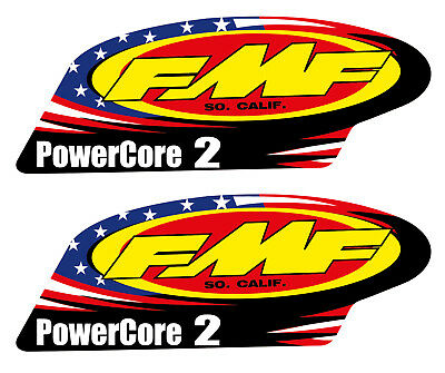 2 Decal Stickers FMF PowerCore 2 (140mmx 52mm)