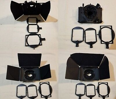 Petroff 3-Stage Matte Box w/15mm Rail Mount, Lens Skirt, 2- 4x4 + 1- 4x5.65 tray