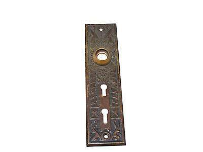 Antique Brass Aesthetic Victorian Door Knob Back Plate  Two Keyhole
