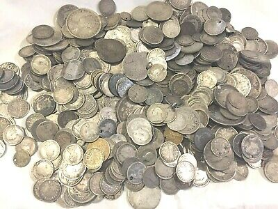 1 oz  silver  early  mixed  coins  most pre 1910 Victoria George William