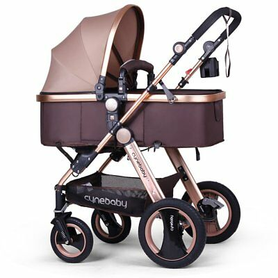 Infant Baby Stroller Newborn/Toddler Convertible Bassinet Carriage cup/food tray