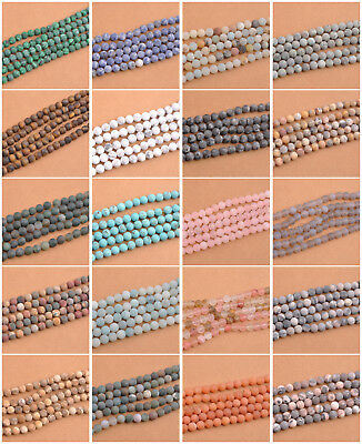 Wholesale Lot Natural Gemstone Round Matte Spacer Loose Beads 6MM 8MM 10MM