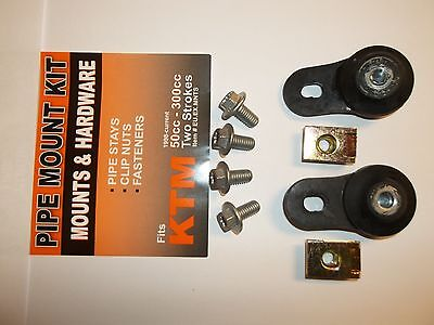 New Exhaust Brackets + Hardware KTM 50 60 65 85 125 144 150 250 300 SX EXC MXC