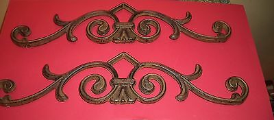 Rustic Cast Iron Scroll Architectural  Victorian Style  Set of 2
