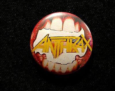 Vintage Anthrax Button Pin Badge Not Shirt Cd Lp Patch Poster Uk Made
