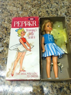 Vintage Pepper Tammy's Little Sister Ideal Toy Corporation doll 1964 box used