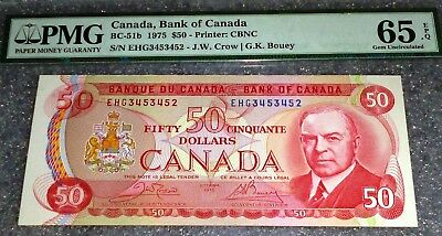Pmg65 1975 $50 Bank Of Canada  - Epq Exceptional Paper Quality