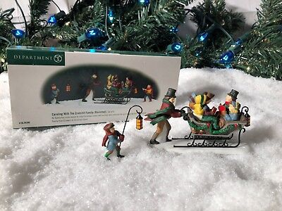 New Department 56 Dickens Village Series Caroling With Cratchit Family Revisited