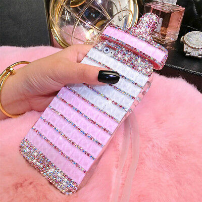 Cute XR/XS Max Case Cover Gold Glitter Diamond Bottle For Apple iPhone XR/XS Ma