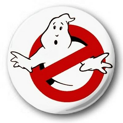 """Ghostbusters Logo - 25mm 1"""" Button Badge - Kids Retro TV 80's"""