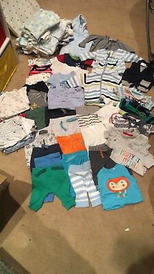 Big Bundle of Boys Newborn and up to 1 month clothes