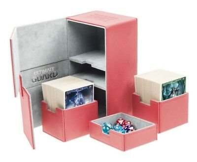 Ultimate Guard - Twin Flip'n'Tray Xenoskin Deck Case 200+ Red - Gaming Box
