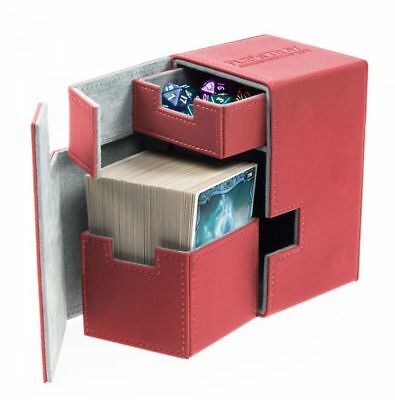 Ultimate Guard - Flip'n'Tray Xenoskin Deck Case 100+ Red - Cards Gaming Boxing