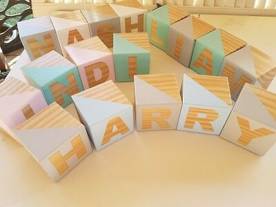 Personalised Name - Shelfie Blocks for Baby / Child / Nursery  / Room Decor