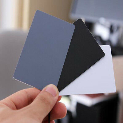 Black Grey 3 In 1 Digital Gray Card Exposure Cards Balance Cards 18% Gray Card