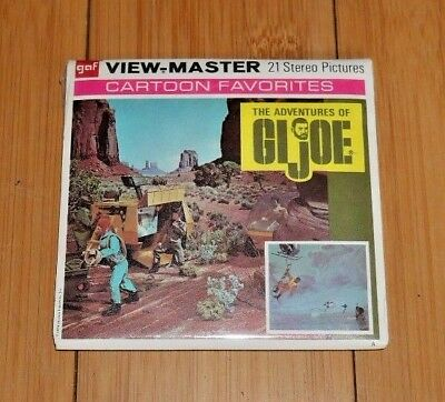 The Adventures Of Gi Joe 1974 Hasbro Viewmaster Reels B585 * Rare Sealed *  A309