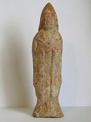 Ancient Chinese Tang Dynasty Pottery Court Figure Statue  - 618 - 906 AD