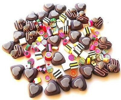 Wholesale 100 Polymer Clay Flatback Embellishments Cakes Sweets Fast Free P&P
