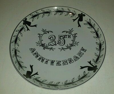 Lefton 25Th Anniversary Hand Painted Plate