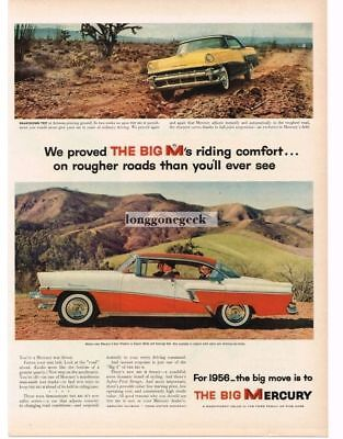 1956 Mercury Montclair Red White 4-door Phaeton Vtg Print Ad