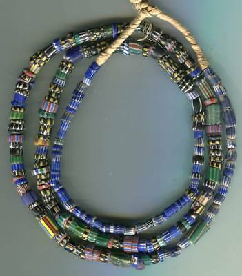 African Trade beads Vintage Venetian glass old mixed chevrons nice