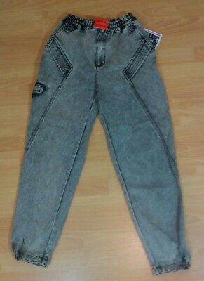 Tomorrow's Generation Jeans Size 10 Black Acid Wash 80s · Deadstock