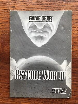 Psychic World Sega Game Gear Instruction Manual Only