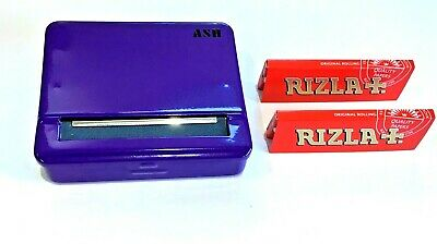 Automatic Rolling Machine Tobacco Case Tin Roller PURPLE 2 RIZLA Pink Booklets