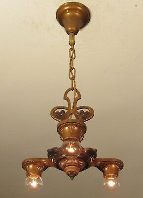 NICE! Antique LIGHTOLIER Light Fixture Chandelier Professionally Restored!