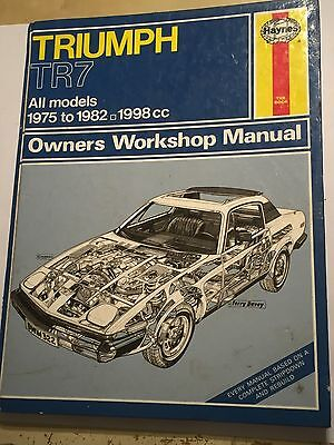 TRIUMPH TR7 CAR HAYNES OWNERS WORKSHOP MANUAL 1998cc FIXED HEAD DROPHEAD 1975-82