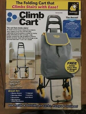 Climb Cart by BulbHead - The Folding Cart That Climbs Stairs with Ease With BAG