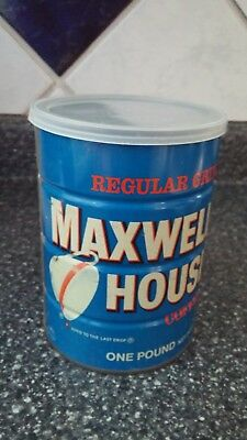 Vintage Coffee Tin Can Advertising Maxwell House 1 Pound