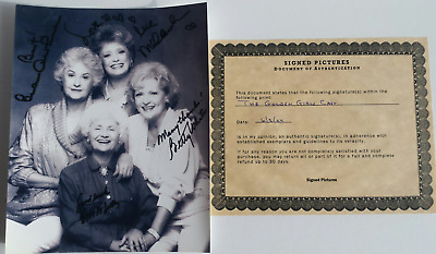 Authentic Signed Golden Girls 8X10 Autographed Picture W/ Coa Betty White Arthur