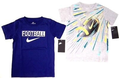 Nike Little Boys Short Sleeve T Shirt  Size  4  5 or 6   Football  Blue or Gray