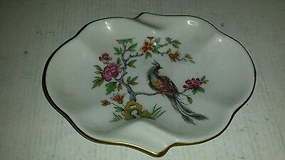 Vtg Bb? Hand Painted Made In France Small Dish With Bird