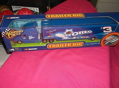 #3 Dale Earnhardt Jr. Blue Oreo Hauler Transporter Nascar Winner's Circle