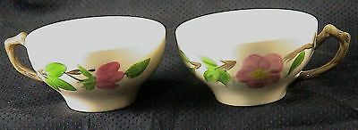 FRANCISCAN DESERT ROSE 2 FLAT CUPS (made in ENGLAND)