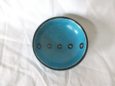 Hand-painted Hand-carved Soapstone Aqua Blue Mini Bowl Dish Made in Kenya
