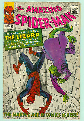 Amazing Spider-Man #6 (1963) VG (4.5, approx) Stan Lee First Lizard, check info