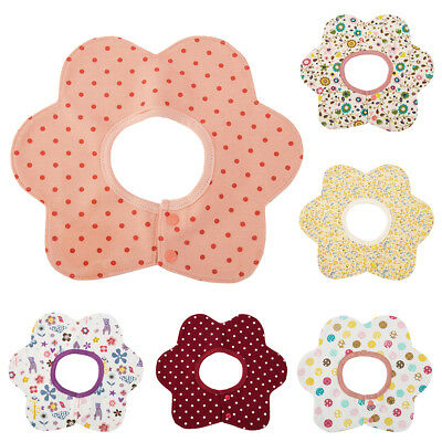 6pcs Infant Baby Kids Bibs Cotton Petal Waterproof Saliva Towel Dribble Bib UK
